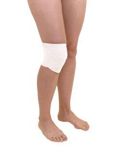 Kniebandage mit Anti-Rutschbeschichtung, weiß