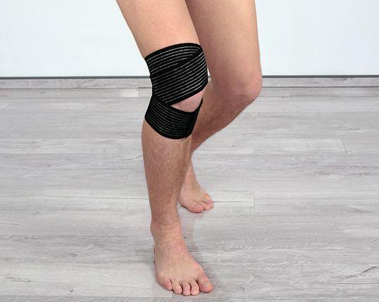 Kniebandage mit Anti-Rutschbeschichtung